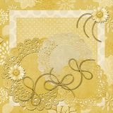 Blumengänseblümchen-Tapete Lizenzfreie Stockbilder