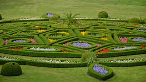 Blumengarten in Kromeriz, Tschechische Republik Lizenzfreies Stockfoto