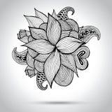 Blumengekritzelillustration glückliches neues Jahr 2007 Auch im corel abgehobenen Betrag Stockfotografie