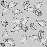 Blumengekritzelillustrationsmuster Stockbild