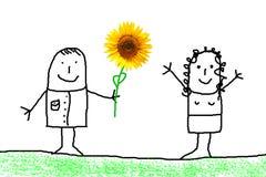 Blumengeschenk lizenzfreie abbildung