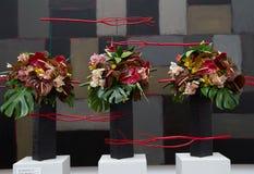 Blumengesteck an den Blumensträußen zu Kunst 2014 Stockbilder