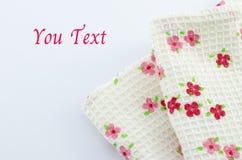 Blumengewebe auf weißem Hintergrund Lizenzfreies Stockfoto