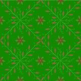 Blumengraphiken der grünen Abstraktion des Musters rote Stockfotografie