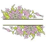 Blumengrenze Lizenzfreie Stockfotos
