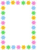 Blumengrenze/Rahmen Stockbild