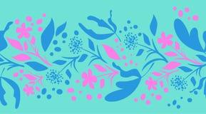 Blumengrenze Swirly Stockfotografie