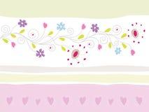 Blumengruß-Karte lizenzfreie abbildung