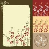 Blumengrußkarte Lizenzfreie Stockfotos