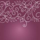 Blumengrußkarte Stockbilder