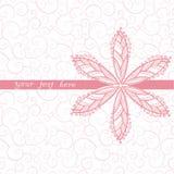 Blumengrußkarte Stockfoto