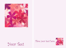 Blumengrußkarte. stock abbildung