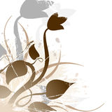 BlumenGrunge Lizenzfreie Stockfotografie