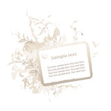 BlumenGrunge Feld für Text Stockfoto