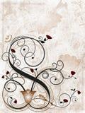 Blumengrunge Hintergrund Lizenzfreie Stockbilder