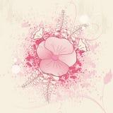 Blumengrunge Hintergrund Lizenzfreies Stockfoto