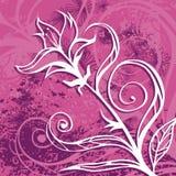 Blumengrunge Hintergrund Stockfoto