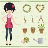 Blumenhändler Stockfotografie