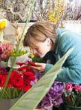Blumenhändler Stockfoto