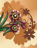 Blumenhalbtonhintergrund Stockfotografie