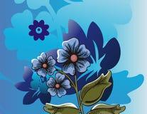 Blumenhalbtonhintergrund Lizenzfreie Stockfotos