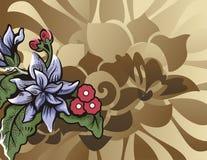 Blumenhalbtonhintergrund Lizenzfreie Stockfotografie