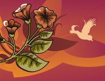Blumenhalbtonhintergrund Stockbild