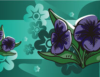 Blumenhalbtonhintergrund Stockfotos