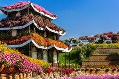 Blumenhaus in der Pagodenart lizenzfreie stockfotografie