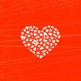 Blumenherz, Vektorillustrationskarte stock abbildung