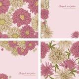 Blumenhintergründe und nahtlose Muster Lizenzfreie Stockfotos