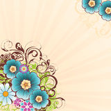 Blumenhintergrund 3 stock abbildung
