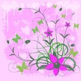 Blumenhintergrund. stock abbildung