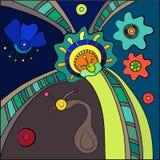 Blumenhintergrund, abstrakt Stockbild
