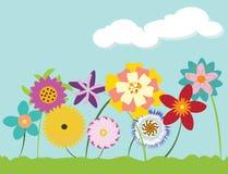 Blumenhintergrund der Blume Garden Stockbild