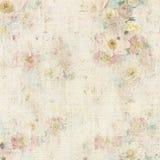 Blumenhintergrund der Grungy Weinlese Lizenzfreie Stockfotos