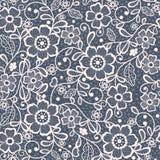 Blumenhintergrund der nahtlosen Spitzes stock abbildung
