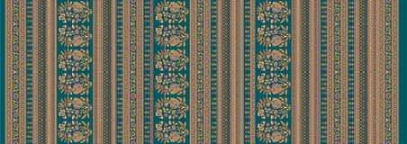 Blumenhintergrund des nahtlosen traditionellen Entwurfs stock abbildung