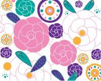 Blumenhintergrund-Designvektor Stockbild
