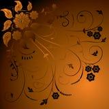 Blumenhintergrund, Elemente für Auslegung, Vektor Stockfoto