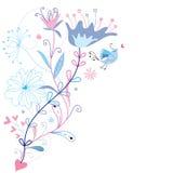 Blumenhintergrund für Sommerauslegungen Lizenzfreies Stockbild