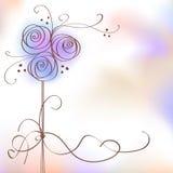 Blumenhintergrund für Text Lizenzfreies Stockfoto