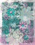 Blumenhintergrund Grunge   Stockbilder