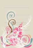 Blumenhintergrund im Rosa und im Türkisgrün Lizenzfreies Stockbild