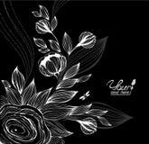 Blumenhintergrund im Stil des zentangle Stockbild