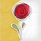 Blumenhintergrund mit abstrakten Rosen lizenzfreie abbildung