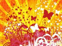 Blumenhintergrund mit Basisrecheneinheit Stockfotografie