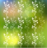 Blumenhintergrund mit Blumen und Blättern Lizenzfreies Stockbild