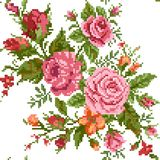 Blumenhintergrund mit Blumenstrauß der Rosen Lizenzfreie Stockfotografie