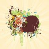 Blumenhintergrund mit Feld für Text Lizenzfreie Stockfotos
